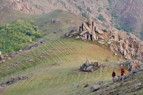 Bolovani de granit pe culmea Pricopanului - Muntii Macin