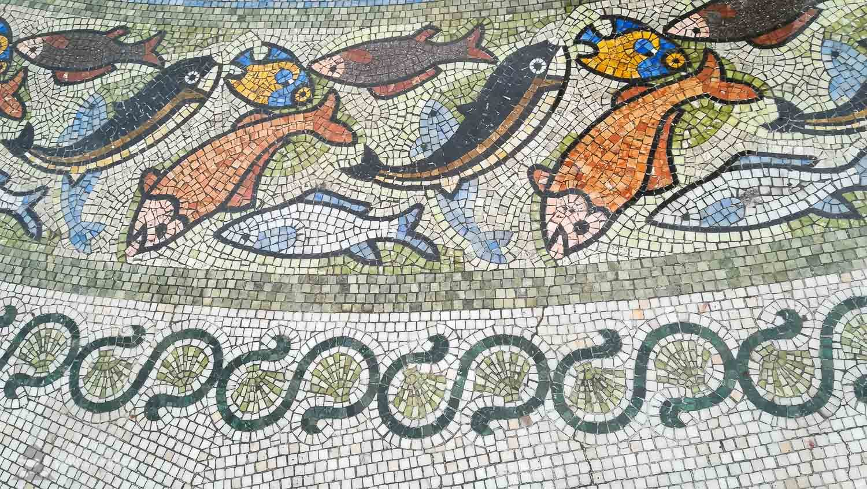 Mozaic fain in Batumi Piazza