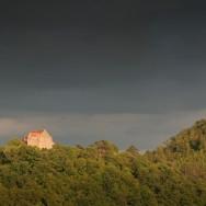 Cetatea Cisnadioara la apus