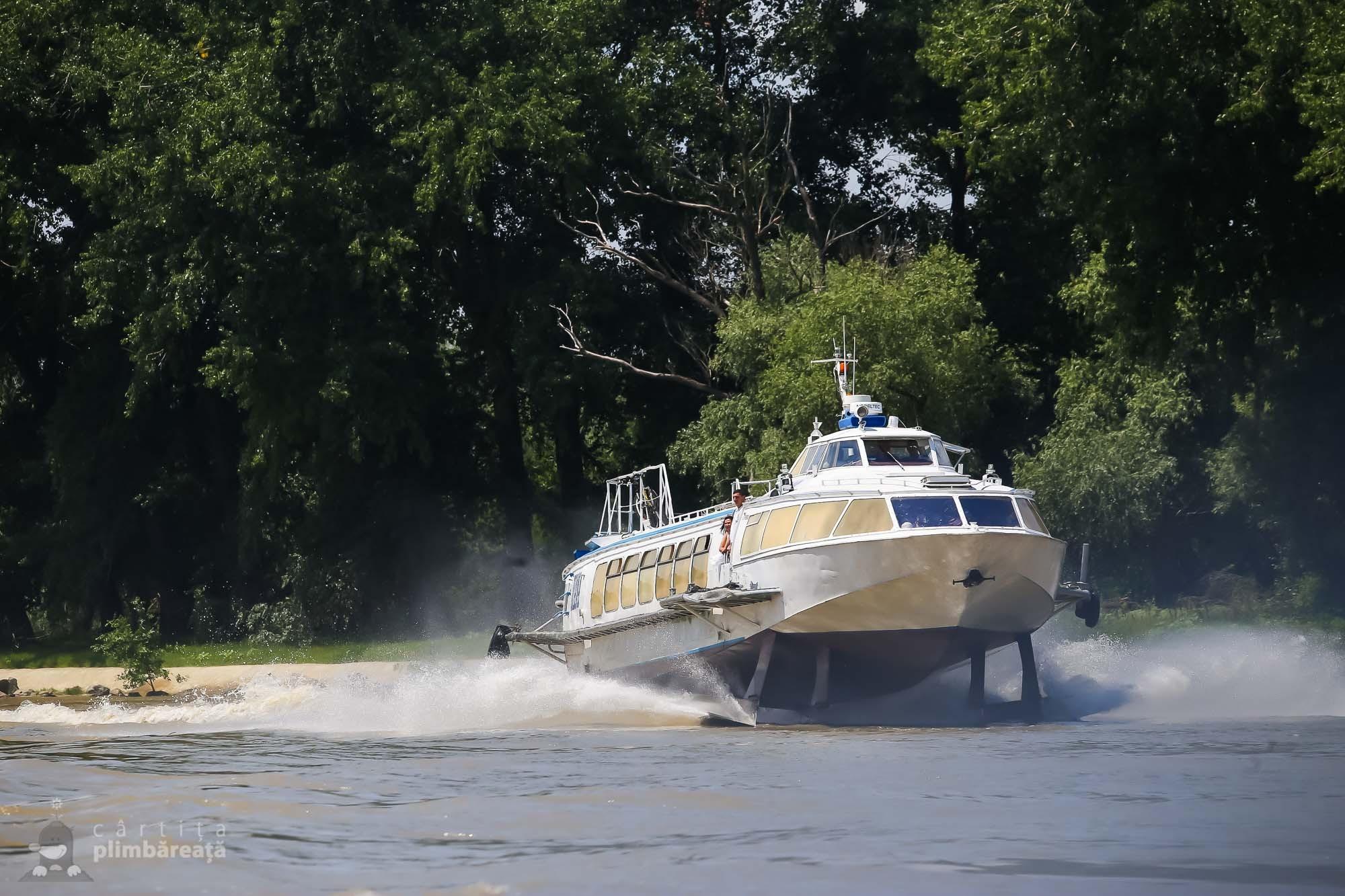 Una din putinele, daca nu chiar singura nava rapida din Delta.