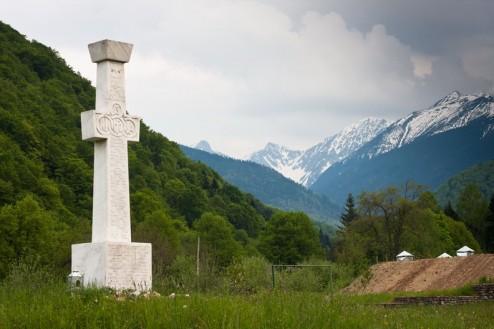 Monumentul dedicat luptatorilor din rezistenta anticomunista din Muntii Fagarasului